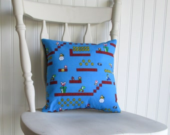 Super Mario Bros - Small Throw Pillow - AWESOME