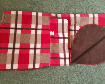 Dog Pyjamas Tartan/Chocolate to 75cm Large