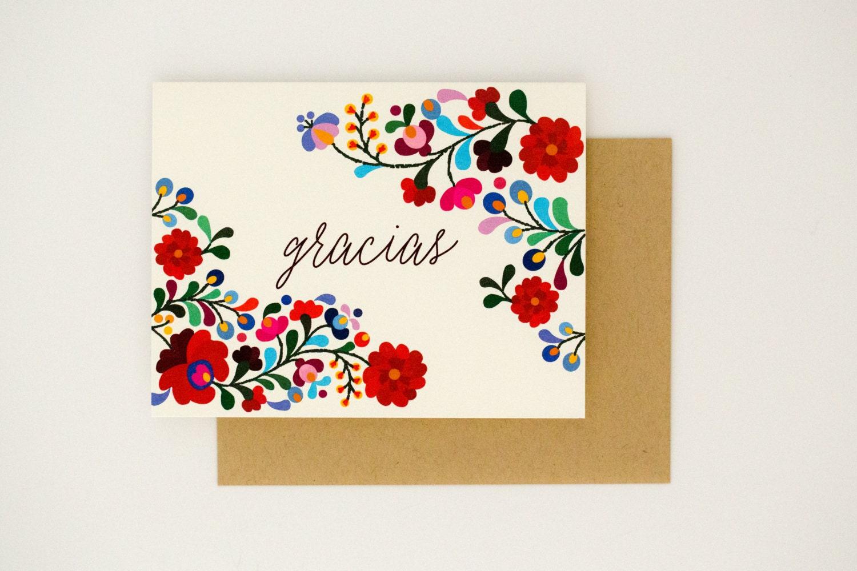 Destination Wedding Thank You Cards Gracias Colorful – Destination Wedding Thank You Cards