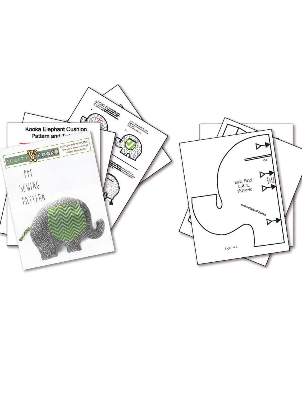 Elephant sewing pattern for beginner sewist stuffed animal patterns jeuxipadfo Gallery