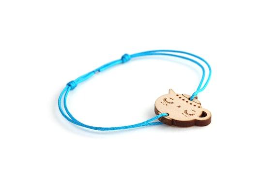 Teapot bracelet - 25 colors - cute tea bangle - adjustable length - lasercut maple wood - kawaii tea pot jewelry - customizable - teatime