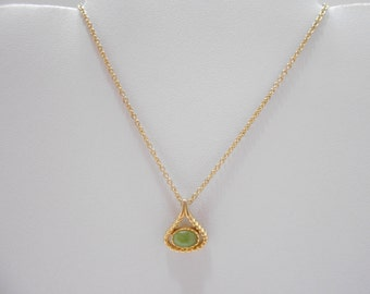 Vintage Jade Pendant Necklace (1535)