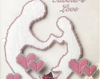Mother's Love Plastic Canvas Pattern - The Needlecraft Shop - Home Decor, Wall Hanging, Mother's Day, Valentine