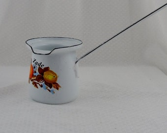 Vintage Enameled Dipping Ladle with the Name Zade