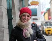 Alpaga Triangle scarf with recycled fur
