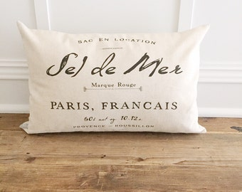 French Pillow Cover