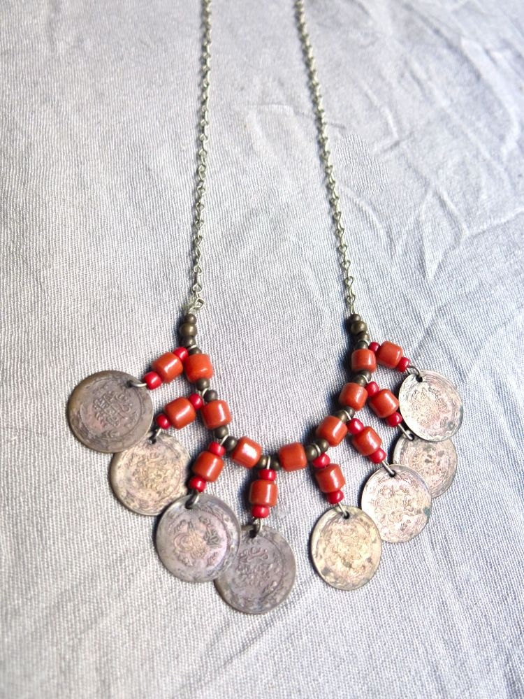 Vintage 1970s Necklace: 70s reproduction (made new ...