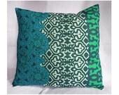 Decorative Pillow Blue Green Pillow Cover Throw Pillow Toss Pillow Home Decor / 18x18 inches