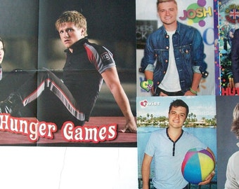 JOSH HUTCHERSON ~ The Hunger Games, Bridge To Terabithia, Journey to Center of Earth, Peeta Mellark ~ Color Pin-Ups, Poster for Scrapbooking