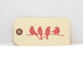 Tags, Gift Tags, Bird Tags, Birds on a Wire, Birds on a Branch, Favor Tags, Manila Tags, Wish Tree Tags, Wishing Tree Tags, Party Tags