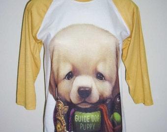 Guide Dog Puppy Shirt Dog T shirt Funny Shirt Men Tshirt Dog Lover Gift Women Tshirt Unisex Raglan Shirt Men Tee Shirt S