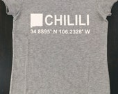 GRAY CHILILI T-SHIRT, donations, wildfire, dog head fire, new mexico