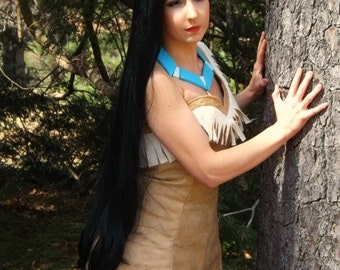 Pocahontas Native Princess Long Black Wig