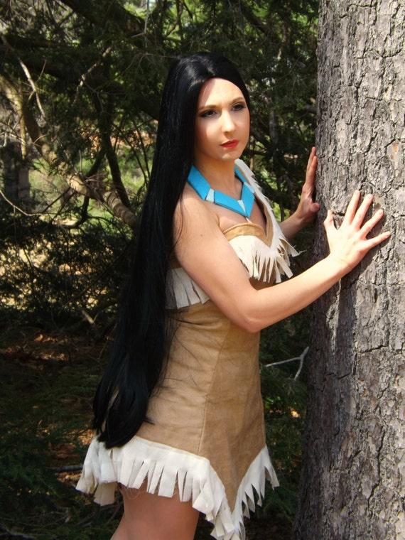 Pocahontas Native Princess Long Black Wig