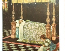 1921 W HEATH ROBINSON Sleeping BEAUTY Print Ideal for Framing