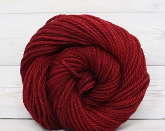 Apollo - Hand Dyed Bulky Superwash Washable Merino Wool Bulky Chunky Yarn - Colorway: Cranberry