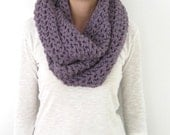 Chunky infinity scarf, lilac crochet infinity scarf,gray,orange,burgundy choose your color