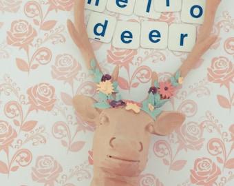 Hello Deer postcard