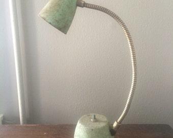 Vintage Eagle Hi-Lite Gooseneck Desk Lamp Turquoise Seafoam Green Mid Century Mod