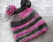 Double Pom Pom Hat . Pink...