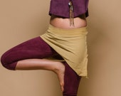 Custom made to order skirts Ananda Asymetrical Mini Skirt Organic Hemp and cotton dyed with herbs