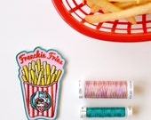 Frenchie Fries embroidered patch