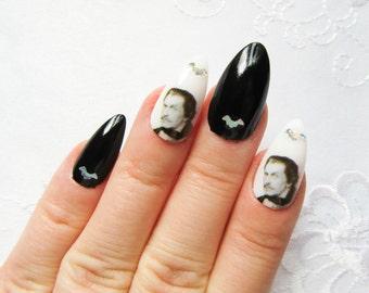 vincent price fake nails stiletto nails gothic horror classic nail art