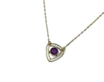 Amethyst Antique Necklace, conversion piece