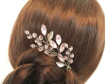 Set of 3 bridal hair pins, wedding hair accessories, crystal hair pins, bridal hair accessories, wedding hair pins, silver hair pins wedding