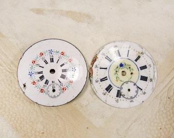 Antique pocket porcelain face - set of 2 - c69