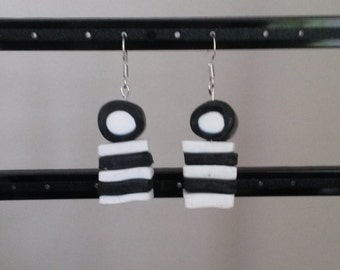 Black & White Liquorice Allsorts Earrings