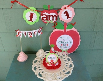 APPLE of my eye Happy Birthday apple theme party package