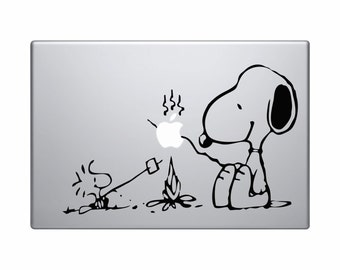 "Snoopy Fire Camp MacBook Decal Snoopy MacBook Sticker 11"" 13"" 15"" 17"" Laptop Decal Laptop Stickers Stickers MacBook Snoopy"