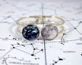 Earth and Moon Clasp Bracelet