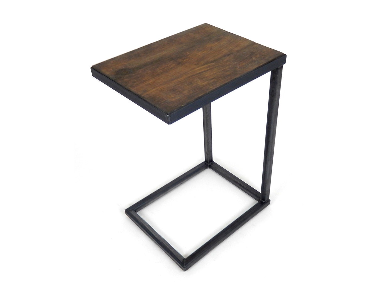 Hand Crafted Cantilever Side Tables Industrial By