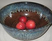 Pottery Centerpiece Bowl, Grande 8 qt in Rainforest, Handmade Wheel Thrown Art Pottey