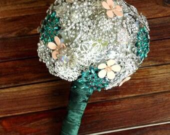 DEPOSIT | Brooch Bouquet | Rhinestone Bouquet | Jeweled Bouquet | Wedding Bouquet