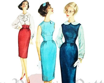 Simplicity 3110 Vintage 1950s Mad Men Style Jumper, Top and Skirt Sewing Pattern Sz 16