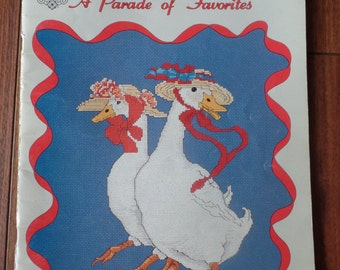 Vintage Gordon Fraser A Parade of Favorites Counted Thread Cross Stitch Designs