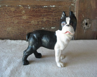 Cast Iron Bull Dog Bank, Vintage