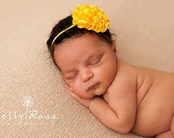 Yellow Baby Headband, Baby Headbands, Yellow Headbands, Headbands Yellow, Baby Girl Headbands, Newborn Headbands, Photo Props