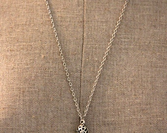 "Hedgehog Love Charm Necklace - With Silver 24"" Chain"
