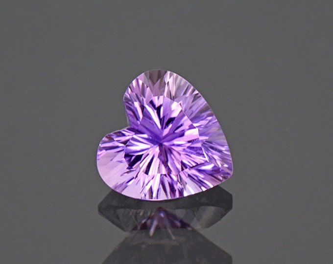 Stunning Concave Heart Ametrine Quartz Gem from Bolivia 2.27 cts.