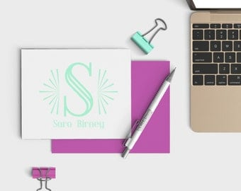 Personalized Notecards - Name Personalized Stationery - Custom Notecard set