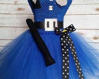 Police Tutu dress costume| Cop tutu| costume| Newborn- size 10 child listing