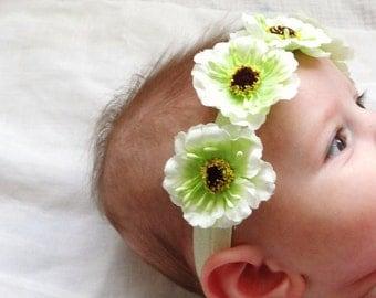 FLOWER HEADBAND, Baby Headband, Toddler Headband