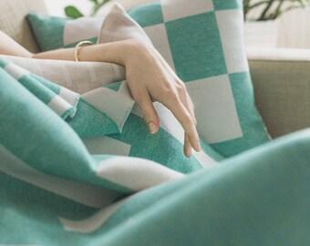 Merino Lambswool Bloc Cushion - Edie