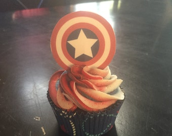 Captain America Cupcakes- LOCAL ONLY