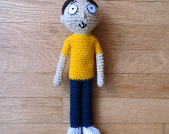 Morty Crochet, Rick and Morty inspired Made to Order