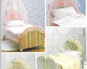 """Canopy Doll Bed Pattern, for 18"""" Dolls Pattern By McCall's Crafts 7338"""